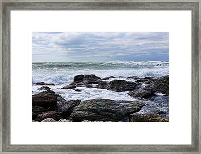 Framed Print featuring the photograph Atlantic Scenery by Andrew Pacheco