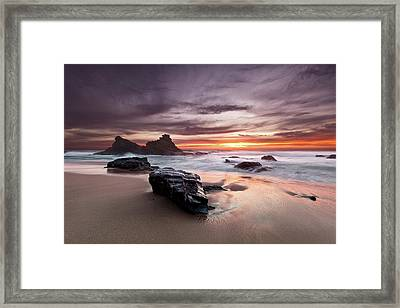 Framed Print featuring the photograph Atlantic Seashore by Jorge Maia