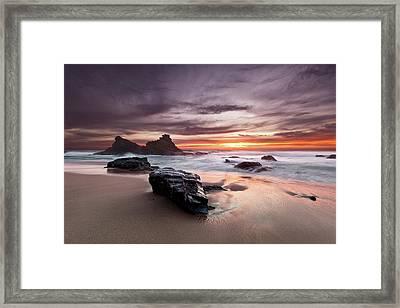 Atlantic Seashore Framed Print by Jorge Maia