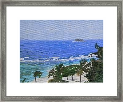 Atlantic Side Of St. Maarten Framed Print