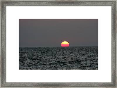 Atlantic Sunrise Framed Print by Allan Levin