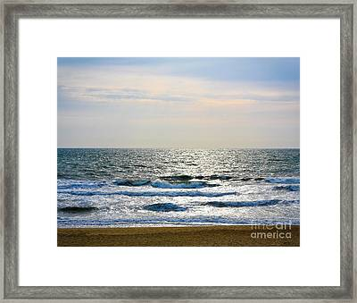 Atlantic Sunrise - Sandbridge Virginia Framed Print
