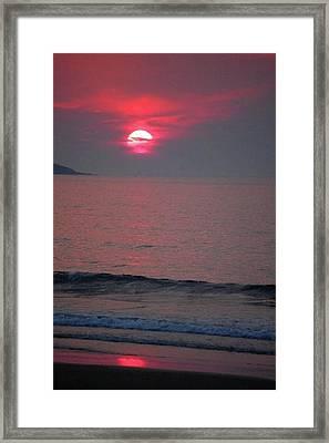 Atlantic Sunrise Framed Print by Sumoflam Photography