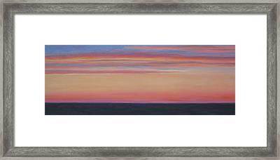 Atlantic Sunset Framed Print by Jane  Simonson