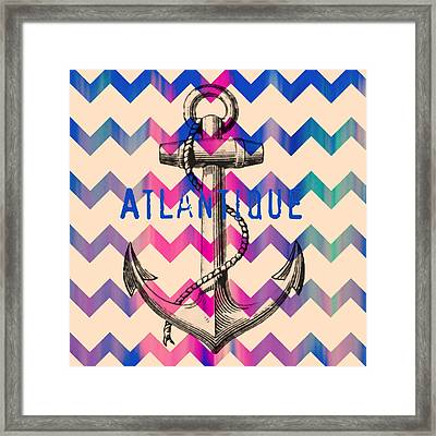 Atlantique Long Island Anchor Framed Print by Brandi Fitzgerald