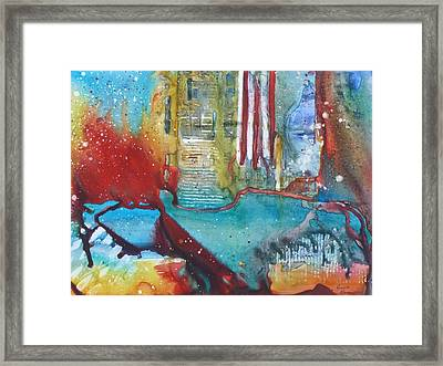 Atlantis Crashing Into The Sea Framed Print