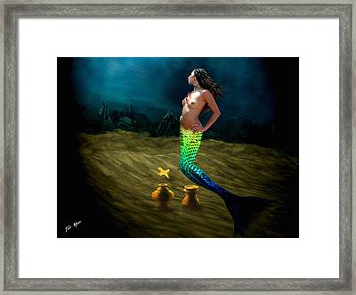 Atlantis Gold Framed Print by Tray Mead