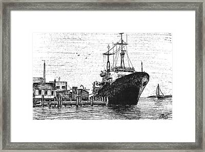Atlantis II At Old Pier Framed Print by Vic Delnore