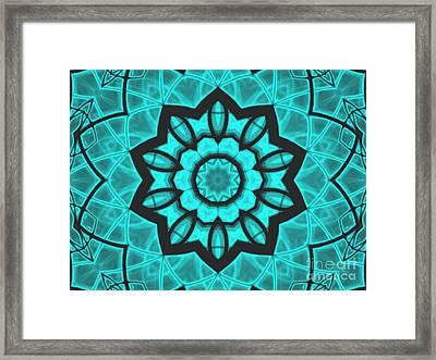 Atlantis Stained Glass Framed Print by Roxy Riou