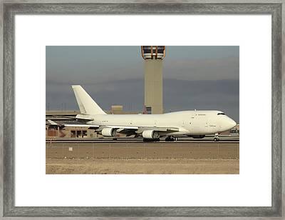 Atlas Air Boeing 747-45e-sf N473mc Phoenix Sky Harbor December 20 2015  Framed Print by Brian Lockett