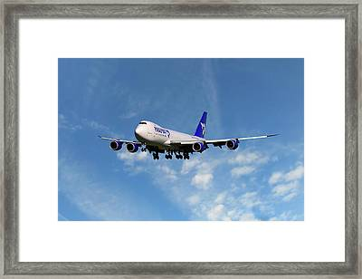 Atlas Air Boeing 747-87u Framed Print