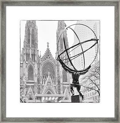Atlas And The Cathedral Framed Print by Vicki Jauron