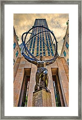 Atlas At The Rock Framed Print by Chris Lord