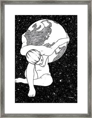Atlas, Framed By Night Framed Print