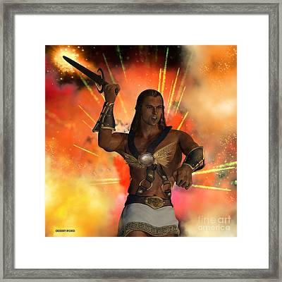 Atlas God Of War Framed Print by Corey Ford