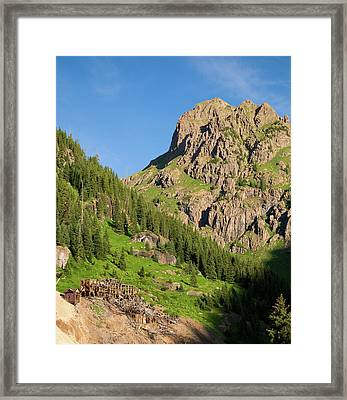Framed Print featuring the photograph Atlas Mine by Steve Stuller