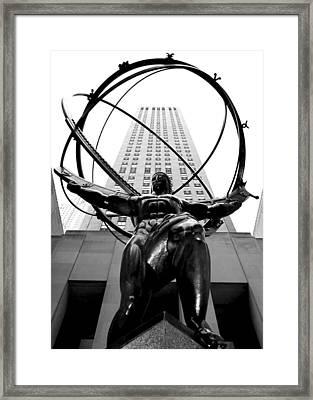 Atlas Framed Print by Mitch Cat