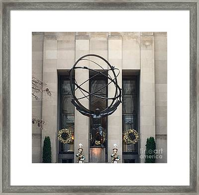 Atlas Statue Framed Print