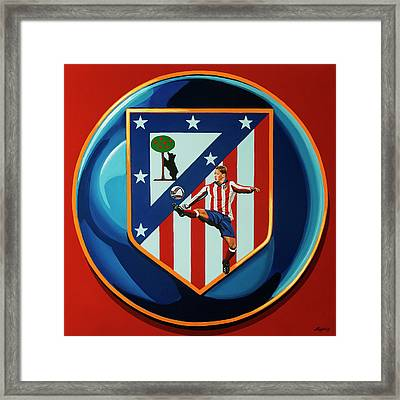 Atletico Madrid Painting Framed Print