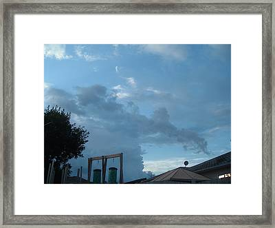 Atmospheric Barcode 19 7 2008 18 Or Titan Framed Print by Donald Burroughs