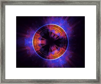 atmospheric Burner with Gas Flames Framed Print