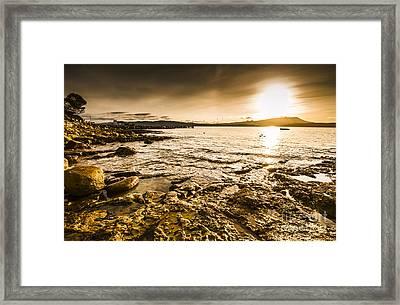 Atmospheric Dusk Seascape Framed Print