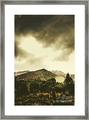 Atmospheric Hills And Valleys Framed Print