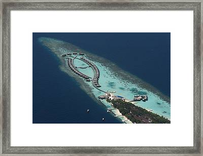 Atolls From The Air Framed Print by Andrei Fried