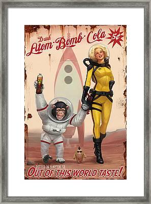 Atom Bomb Cola - Out Of This World Taste Framed Print by Steve Goad