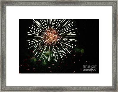 Atom Burst Framed Print by Norman  Andrus