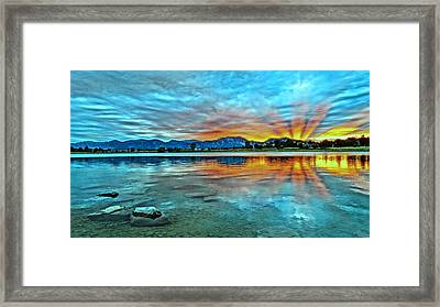 Framed Print featuring the photograph Atom  by Eric Dee