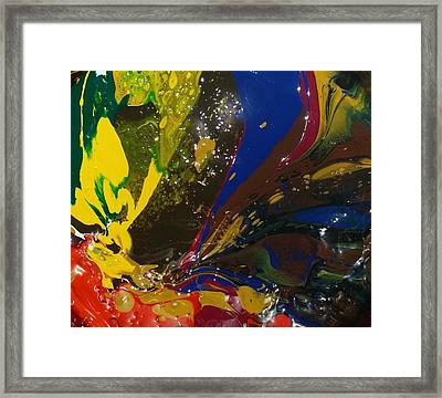 Atom, Surfing On Dog Framed Print