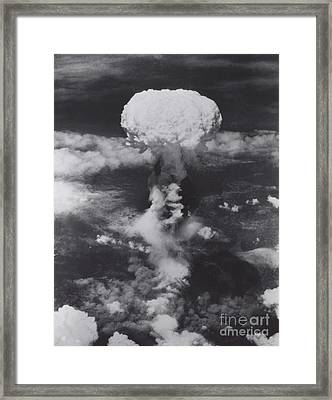 Atomic Bomb, Hiroshima, 1945 Framed Print by Science Source