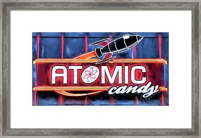 Atomic Candy Downtown Denton Framed Print