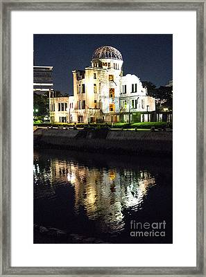 Atomic Dome - Symbol Of Destruction And Hope Framed Print by Pravine Chester