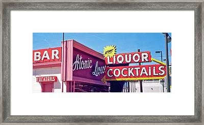 Framed Print featuring the photograph Atomic Liquors by Matthew Bamberg