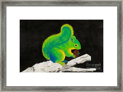Atomic Squirrel Framed Print