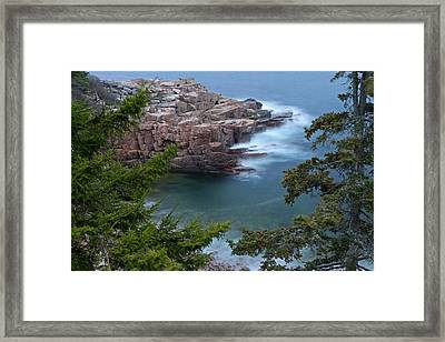 Atop Of Maine Acadia National Park Monument Cove  Framed Print by Juergen Roth
