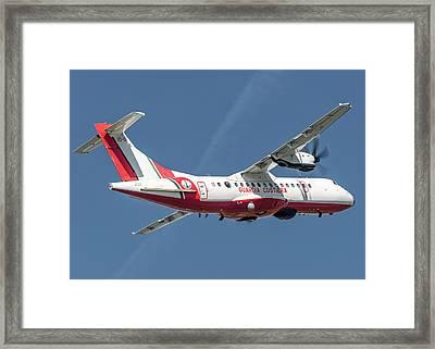 Atr At42-500 Italian Coast Guard Back Framed Print by Roberto Chiartano