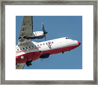 Atr At42-500 Italian Coast Guard Nose Framed Print by Roberto Chiartano