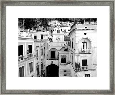 Atrani Framed Print by Sorin Ghencea
