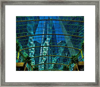 Atrium Gm Building Detroit Framed Print