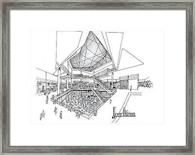 Atrium - Interior Design Framed Print by Soran Shangapour