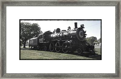 Atsf 2-6-2 Locomotive 1079 Diminished Framed Print