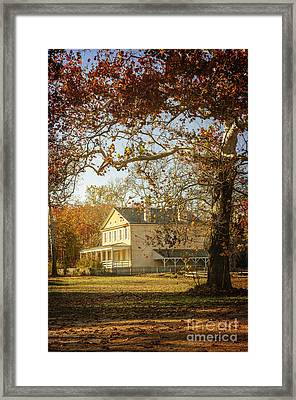 Atsion Mansion Framed Print by Debra Fedchin
