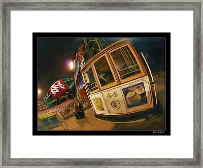 Att Park At Night Framed Print