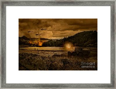 Attack At Nightfall Framed Print by Amanda Elwell