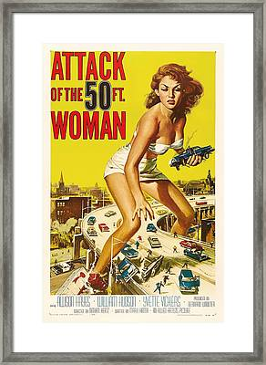 Attack Of The 50 Ft Woman 1958 Framed Print