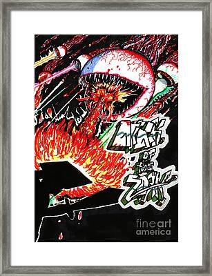 Attack Of The Zork Framed Print by Ben Shurts