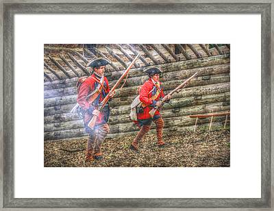 Attack On Fort Ligoner French And Indian War Framed Print by Randy Steele